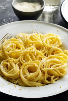 The beauty of this recipe lies in its simplicity All you need is pasta, a lemon, a knob of butter, a generous pour of heavy cream and a hunk of the best Parmesan you can get your hands on.