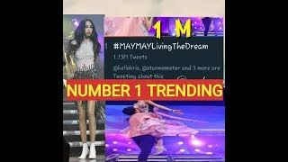 ONE GOOD NEWS pa Number #1 na si MAYMAY TRENDING sa Twitter