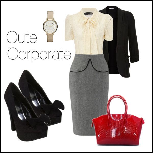 """""""Cute Corporate Wear"""" by laceandbuckles on Polyvore"""