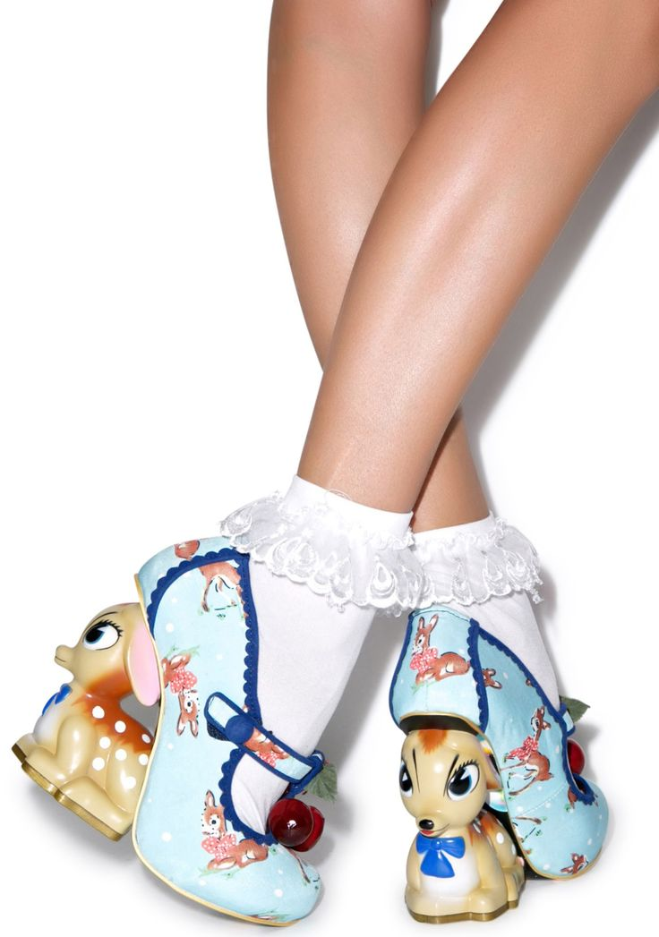 So Kawaii too!! Love them!! Irregular Choice Cherry Deer Heels | Dolls Kill