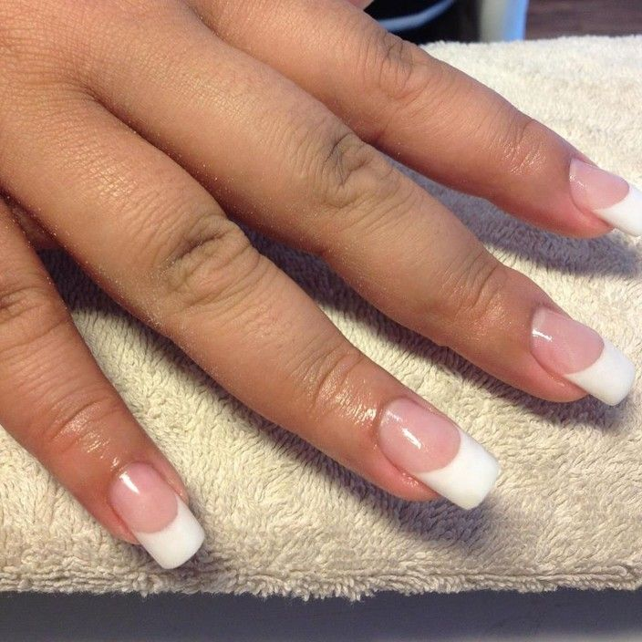 Short French Acrylic Nails - http://www.mycutenails.xyz/short-french-acrylic-nails.html