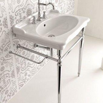ELLADE mosdó, peremmel, 68x55x29cm, 1 lyukas, 3 lyukasra kikönnyítve, fehér  D15 Hydra