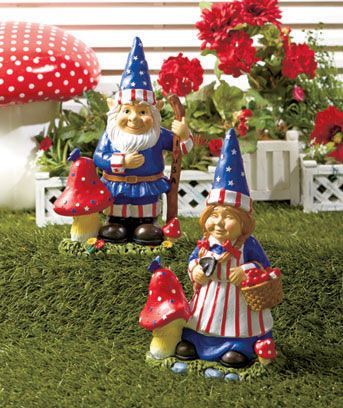 Patriotic Garden Gnome Statues