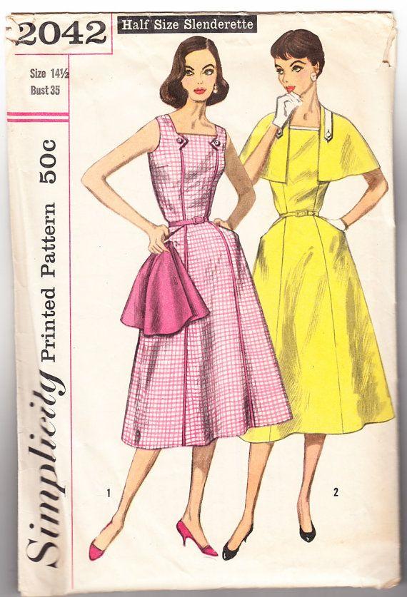 Vintage 1957 Simplicity 2042 UNCUT Sewing by SewUniqueClassique