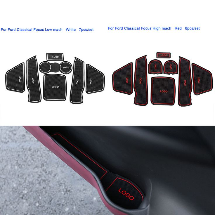 7Pcs/Set Car Styling Slot Pad Interior Door Groove Mat Latex Anti-Slip Cushion For Ford Classic Focus High/Low Match