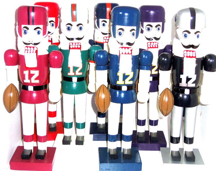 NFL Nutcracker Dolphins Raiders Chiefs Broncos 49ers Vikings Chargers New #NFLPepelGiftware