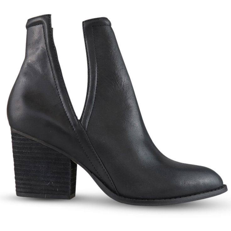 All about the ankle!  Gabrie has a 7cm* block heel perfect for day wear, and matte black nappa leather upper ideal for an edgey night out. This geometrically cut ankle boot is perfect for all occasions, with a cut out on the ankle to keep things cool!