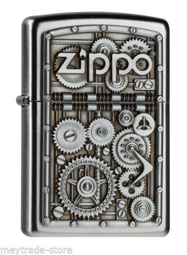awesome-ZIPPO-Gear-Wheels-emblem-lighter-rare-and-mint-collectible-item