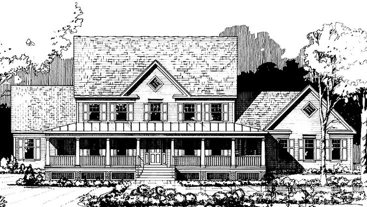 Farmhouse House Plan with 3482 Square Feet and 5 Bedrooms(s) from Dream Home Source | House Plan Code DHSW72494