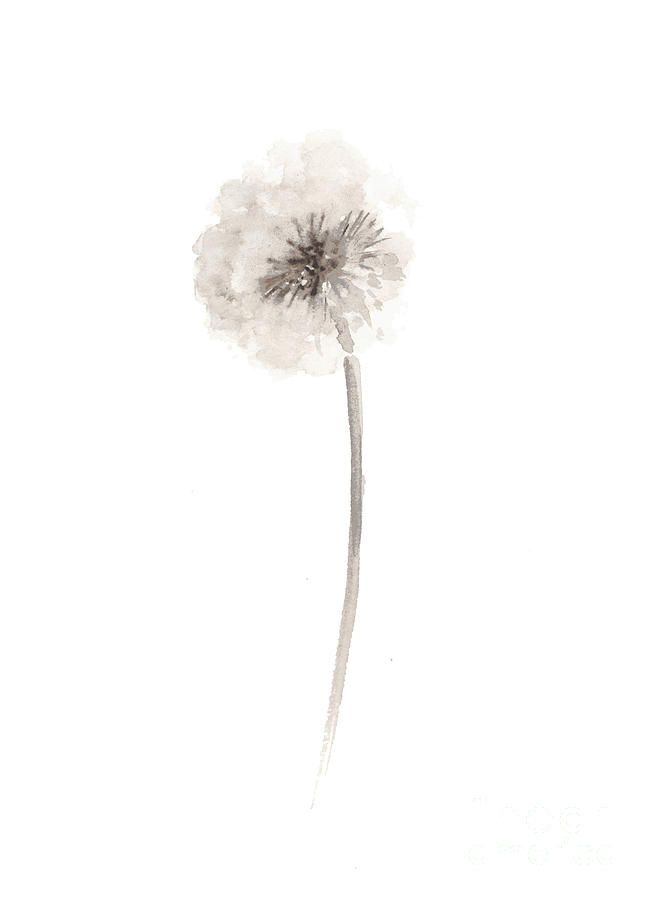 Dandelion Watercolor Art Print Painting By Joanna Szmerdt Dandelion Art Watercolor Art Prints Minimalist Watercolor