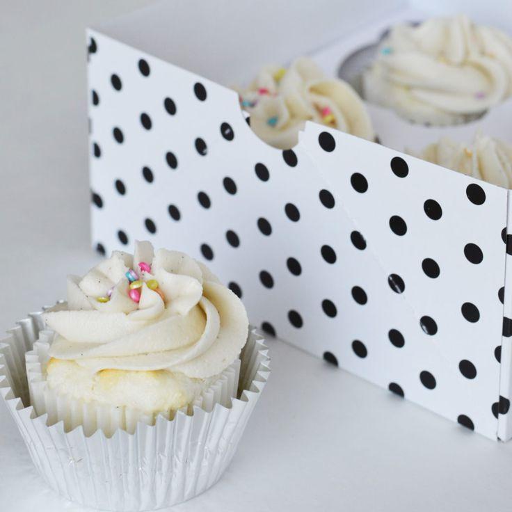 Angel Food Cupcakes with Vanilla Bean Buttercream