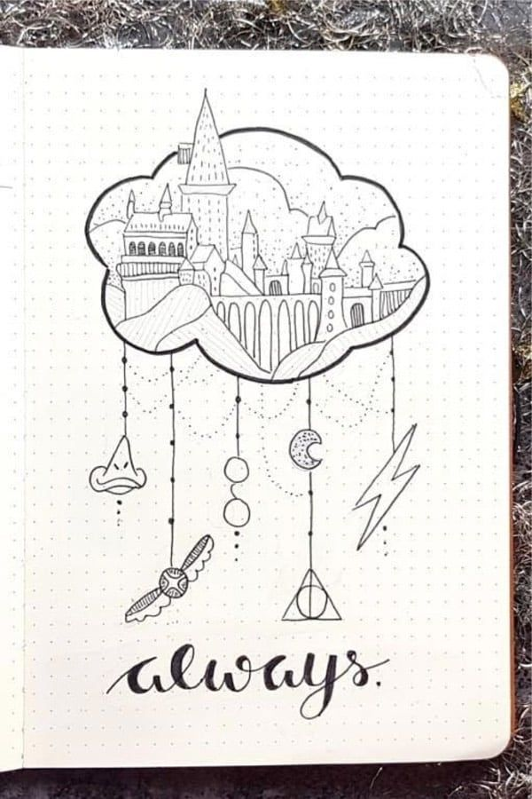 Check Out These Awesome Harry Potter Bullet Journal Spreads For Inspiration Harry Potter Journal Harry Potter Tattoos Harry Potter Bildschirmhintergrund