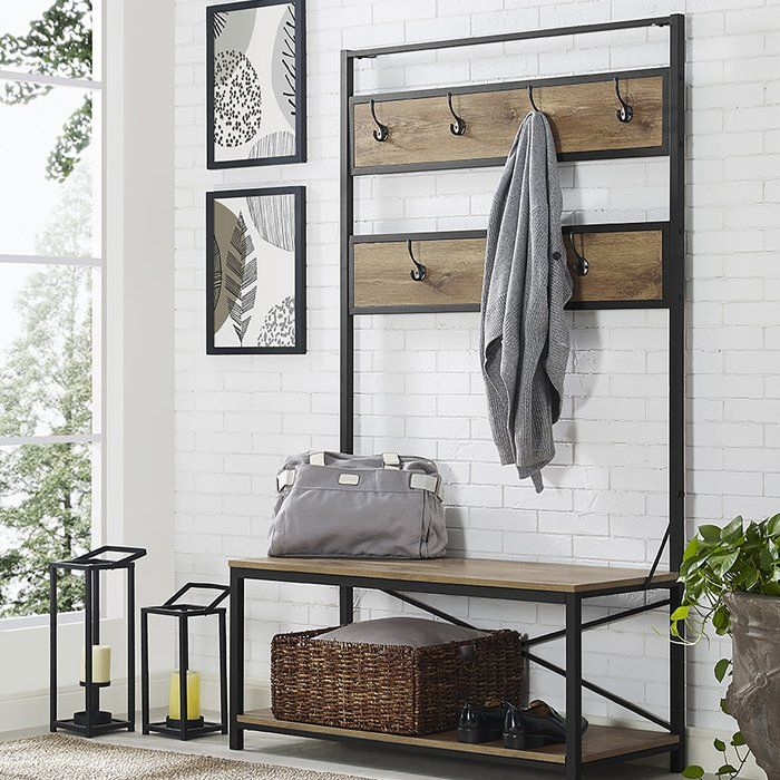 Keep Your Hallway Tidy And Organized With Their Industrial Inspired Design Hall Tree Perfect To