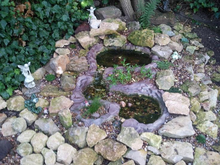 Fairy garden pond ideas photograph fairy rockery with wild for Garden pond rockery ideas