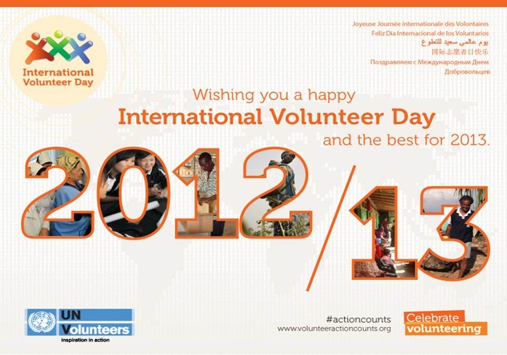 1000+ images about International Volunteers Day - December ...