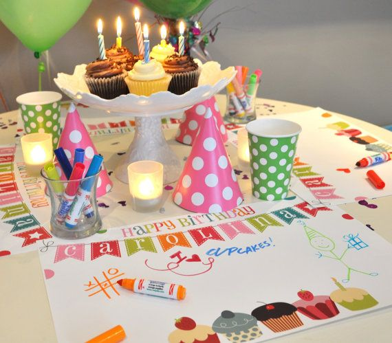 Personalized Paper Placemat PACKAGE Cute Vintage By TIPgifts 2225