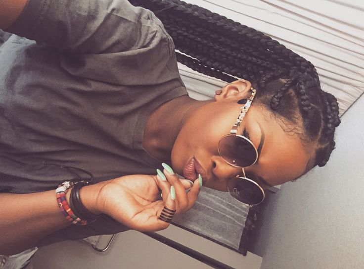 thick box braids protective hair style