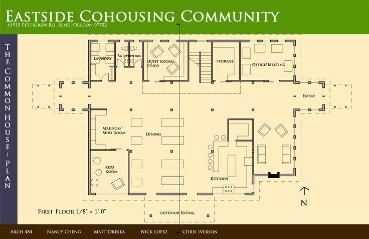 Eastside Bend Or Commhouse Floor Plan Favorite Urban Co Housing Pinterest Floor Plans And
