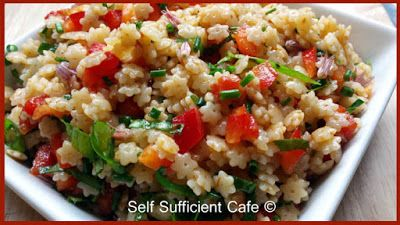 Self Sufficient Cafe: Summer Pasta Salad with Sun-dried Tomato Dressing