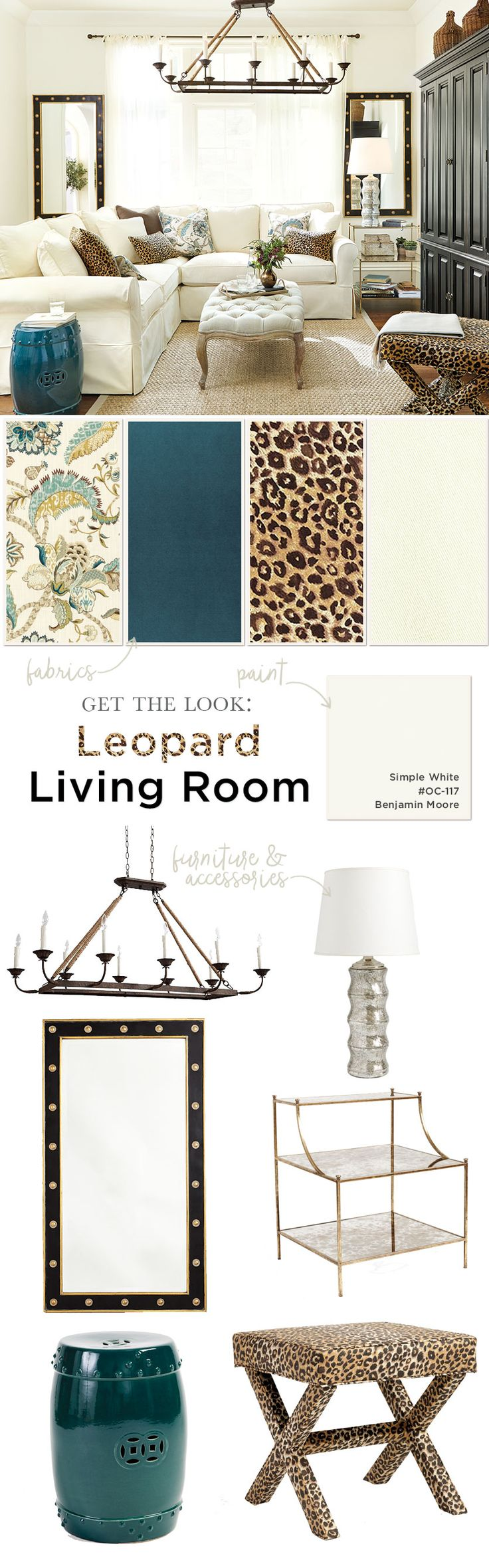 We admit it, we think leopard is a neutral! Its a chic pattern that can go anywhere, anytime. We love the way it punctuates...