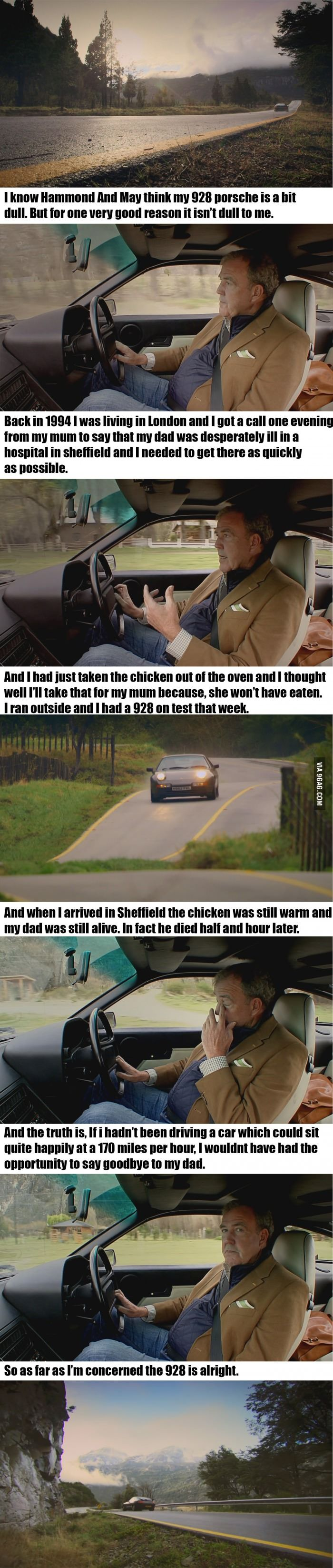 TopGear Feels. I love Jezza a little bit more after this episode.