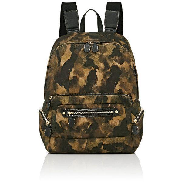 Ghurka Men's Camouflage Backpack featuring polyvore, men's fashion, men's bags, men's backpacks, dark green, mens camo backpack and mens backpack