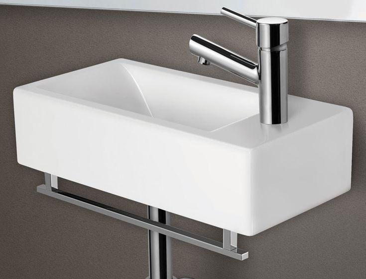 Awesome Alfi AB108 Small Modern Rectangular Wall Mounted Ceramic Bathroom Sink Basin