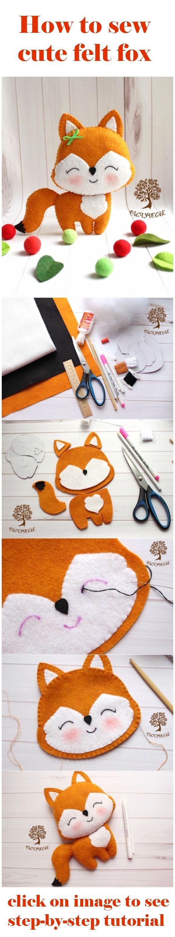 How to sew cute felt fox | DIY Fun Tips