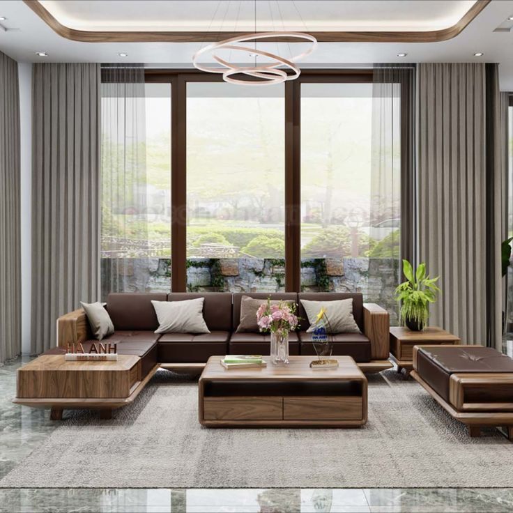Sofa gỗ óc chó bền đẹp, chất lượng
