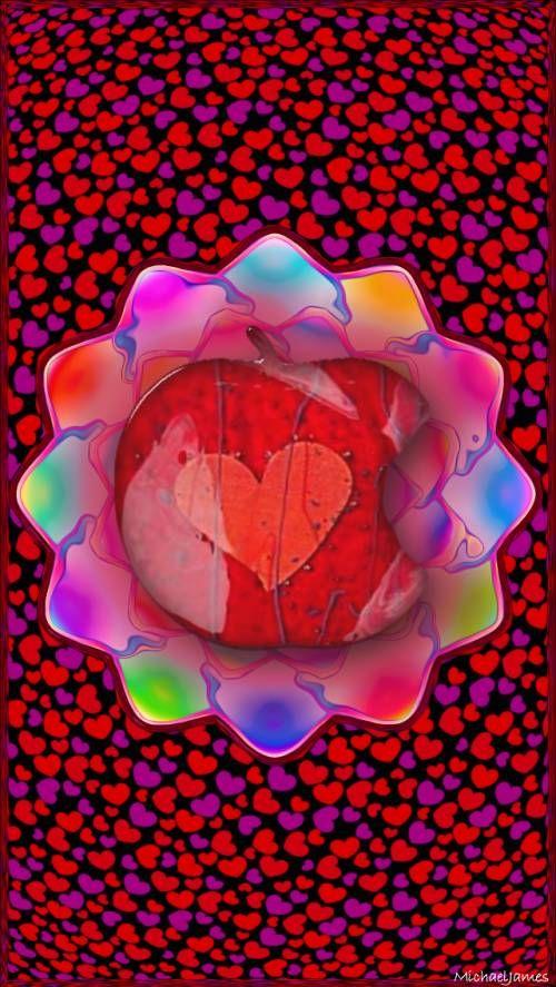 valentine heart flower template