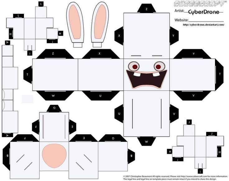 Cubee - Raving Rabbid by CyberDrone.deviantart.com on @deviantART