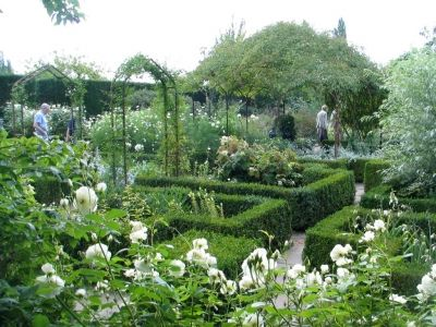 SISSINGHURST CASTLE GARDEN in  Kent England is one of the most beautiful and original white gardens in the world. - This is my inspiration for my own white garden.