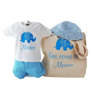 CESTA ESPECIAL DE VERANO PERSONALIZADA. Ropa personalizada para niño niña o bebé. Cesta personalizada para bebé. Canastilla personalizada para recién nacido. Cesta para regalo de bebés. ahora