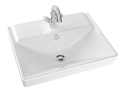 Reve 600mm Basin  Features:    Basin designed for centre tap hole only  Overflow outlet