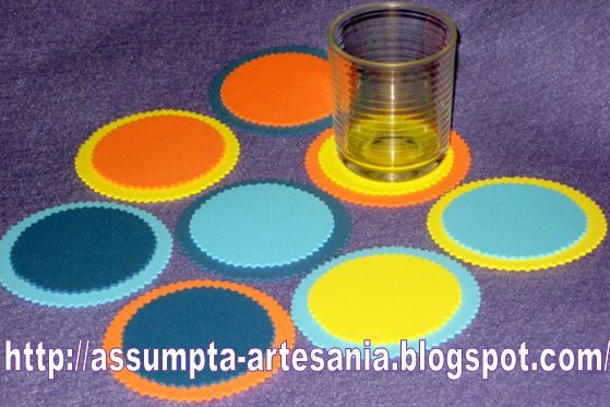 artesania en vasos
