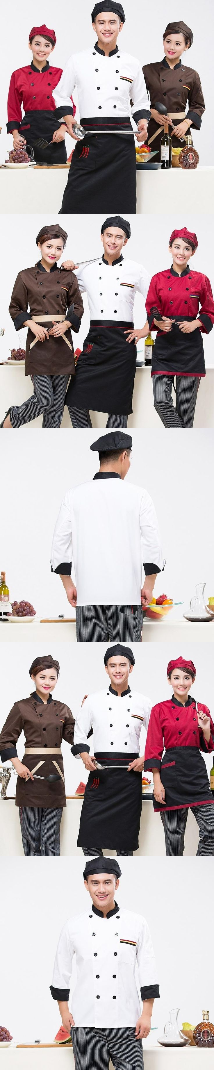 Chef clothing long - sleeved autumn and winter hotel kitchen uniforms restaurant restaurant chef men and women chefs uniforms