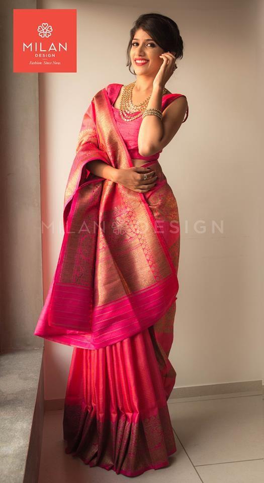 Banaras Saree from Milan Design Kochi #MilanDesignKochi #DesignerSaree #BanarasSaree #Kerala #Kochi #India