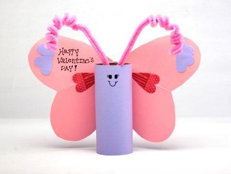 Valentine Love Bug.: Valentines Crafts, Valentine Day Crafts, Crafts Ideas, Toilets Paper Rolls, Butterflies, Kids Crafts, Valentinesday, Valentines Day Crafts, Toilet Paper