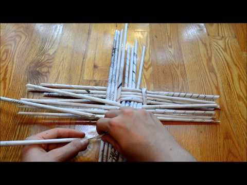 HOW TO : Newspaper Basket Base - YouTube