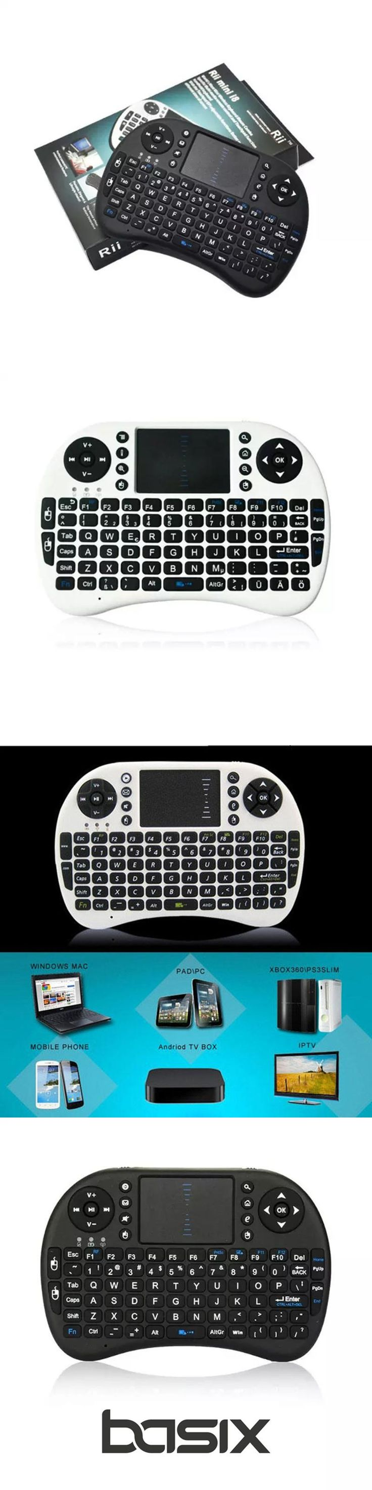 basix New 2.4G Mini USB Wireless  Keyboard Touchpad & Air Fly Mouse Remote Control for Android Windows TV Box Smart Phone