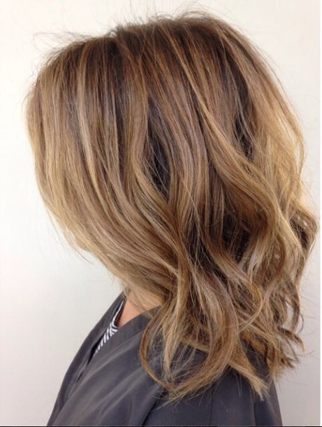 A gorgeous hair color idea for brunettes - the natural and slightly blonde shade of Honey Brown. The subtle highlights flatter and brighten your skin tone, but isn't overpowering. Color by Meaghan ...