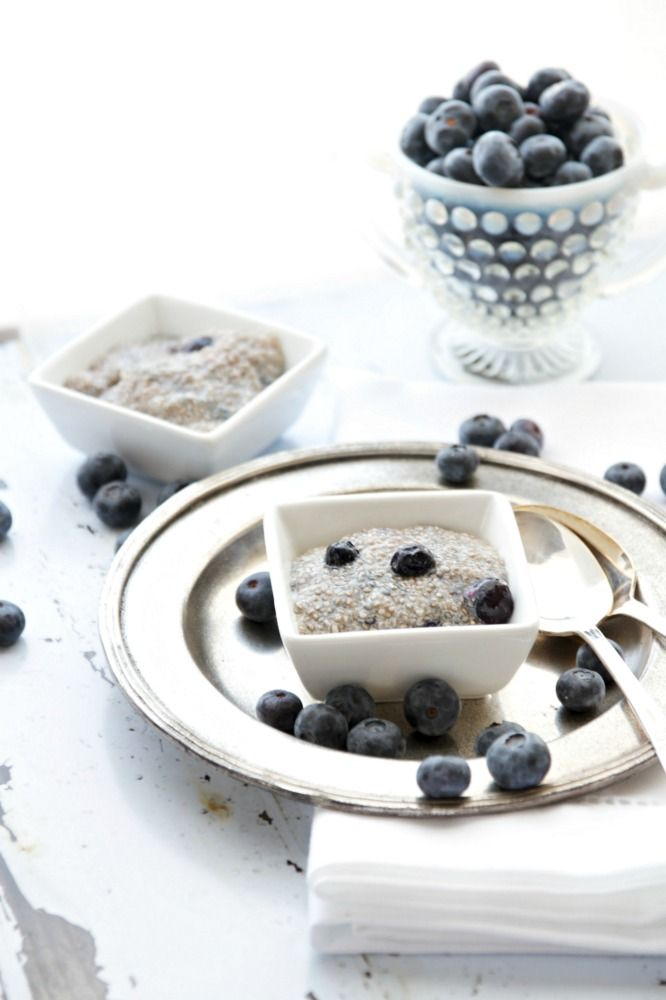 Vegan and Raw Blueberry White Chia Seed Pudding