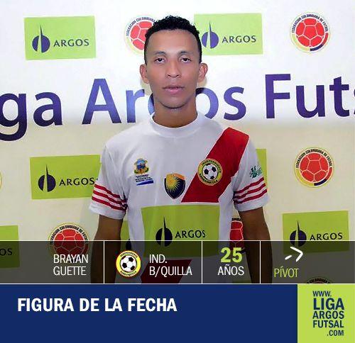 La gran #figura de la tercera fecha se destacó por sus tres goles en Cúcuta. Excelentes cualidades del pívot de #IndependienteBarranquilla. #FútbolRevolucionado #Futsal