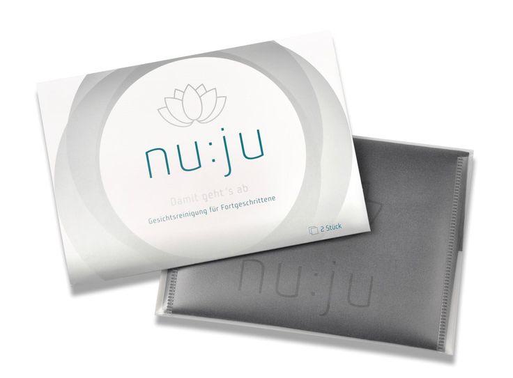 Microfasertuch nu:ju - Gesichtsreinigung nur mit Wasser. Keine Seife oder Reinigungsmittel mehr. Entfernt Make-up einfach und effektiv.