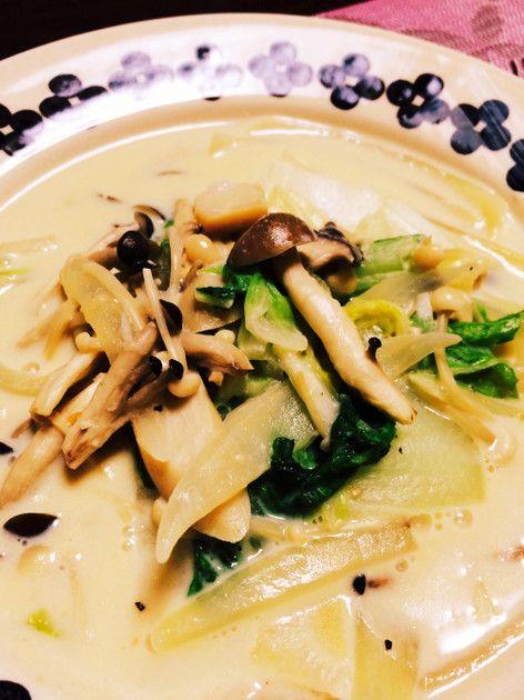 ダイエット♡きのこと白菜の豆乳スープ by sp000n [クックパッド] 簡単おいしいみんなのレシピが218万品