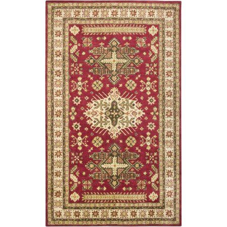 Rizzy Home Burgundy Rug In Wool 5'x8', Red
