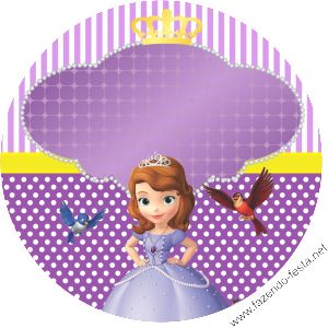 A ton of free editable Sofia birthday decorations! The site is in spanish but under each item, it says pdf download :)