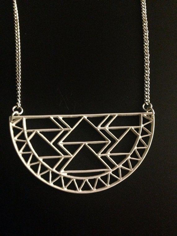 White Aztec Necklace on Etsy, £8.00