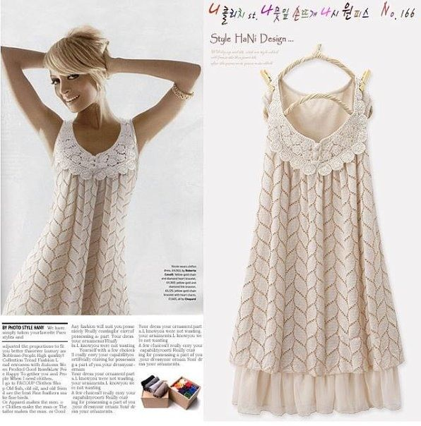 style hani design: dress for beach. Someone added a couple of chart references at this site