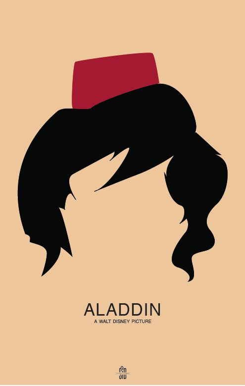 Aladdin by Leanne Maher in 50 Fresh Minimal Movie Posters